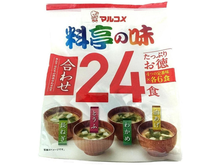 Marukome: Ryotei No Aji - Assorted Instant Miso Soup (24 Pack)