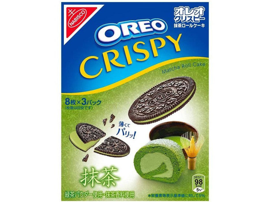 OREO Crispy Matcha Green Tea Roll Cakes Limited Edition 3packs (5.43 oz / 154 g)