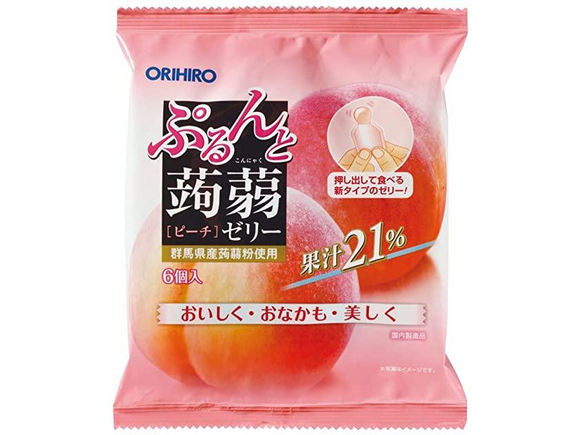 Orihiro Konjac Jelly Peach 6pcs (4.32oz/120g)