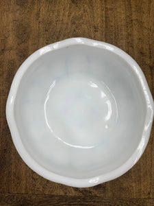 Milk glass bowl