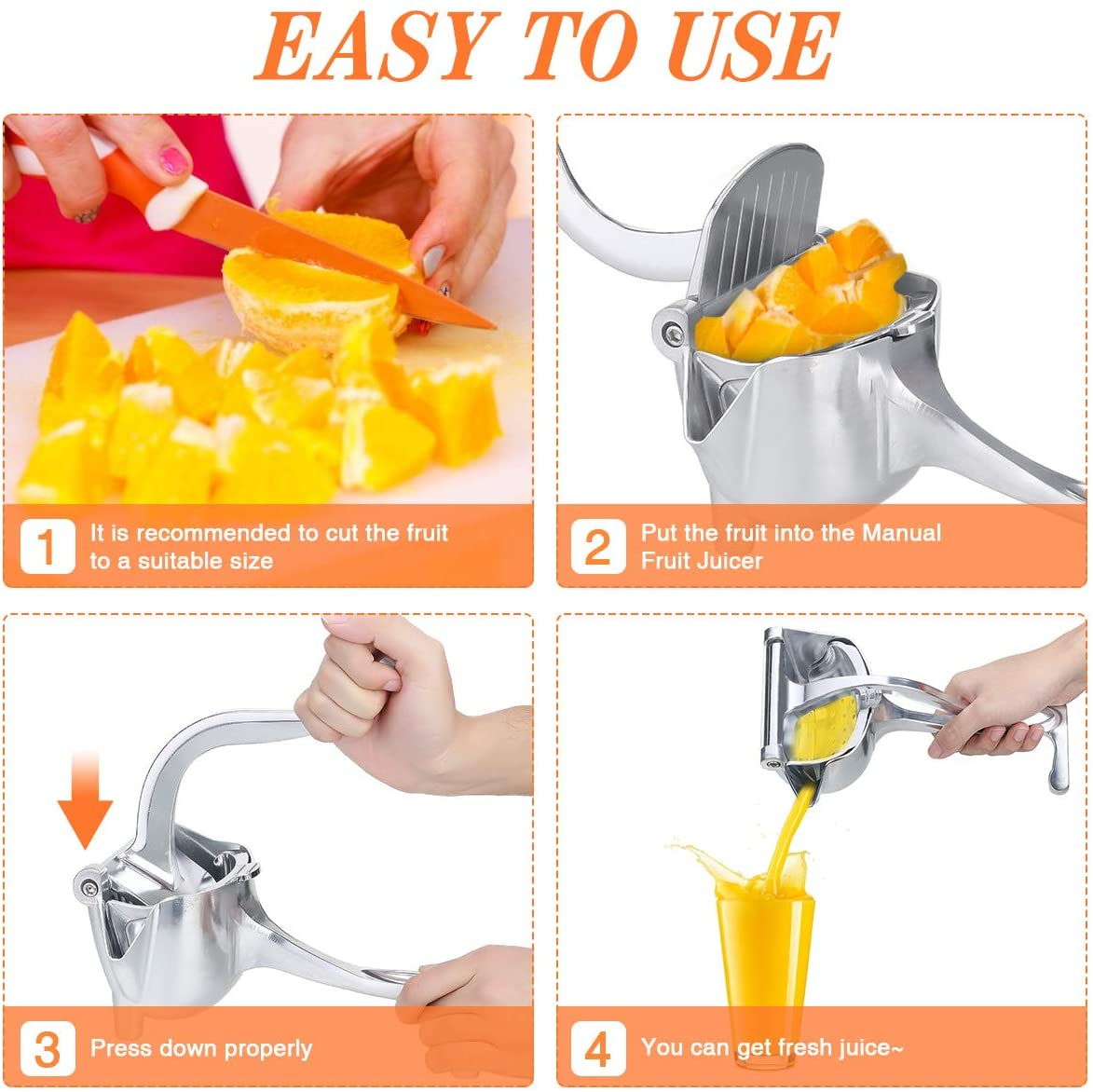 Stainless Steel Fruit Squeezer