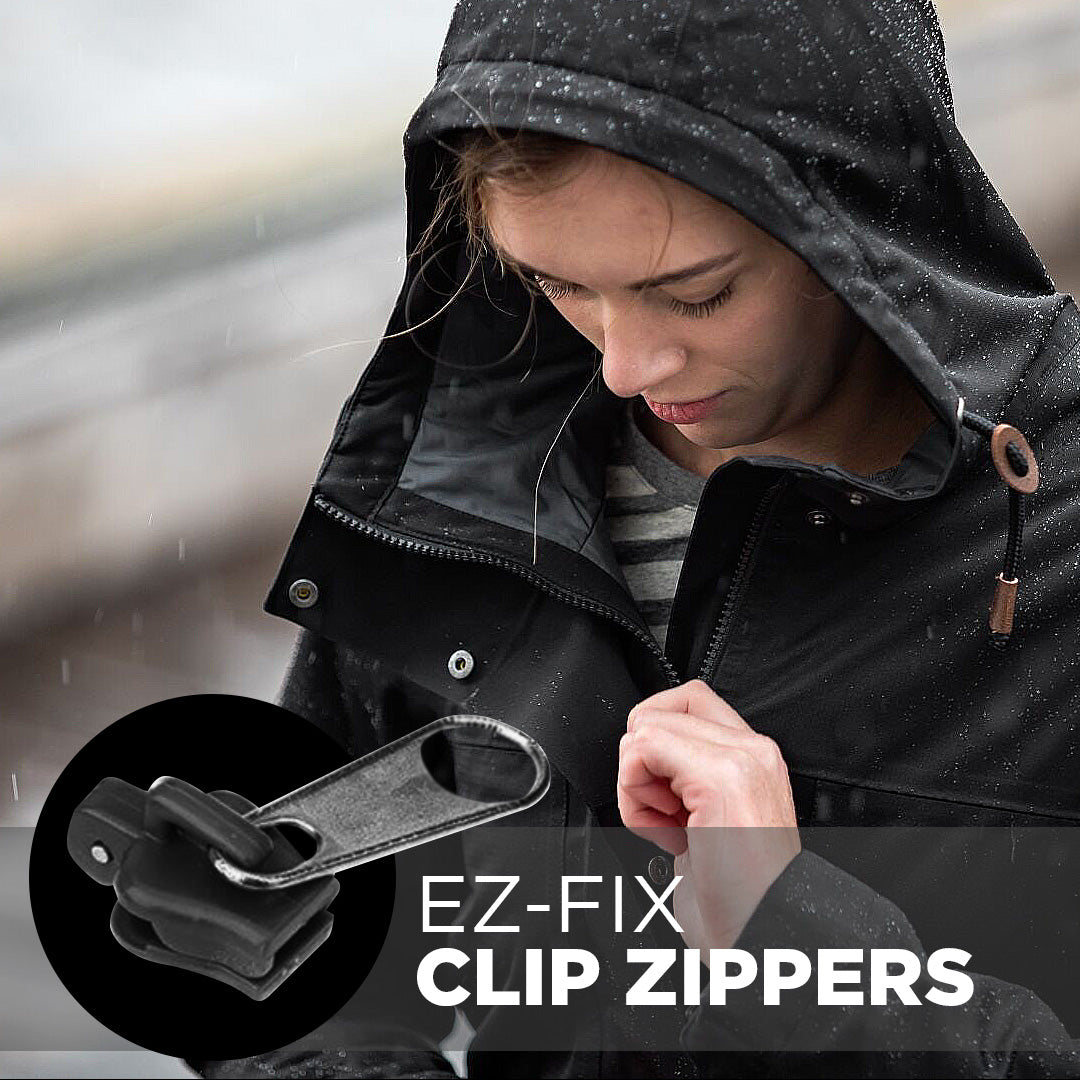 Easy-Fix Clip Zippers