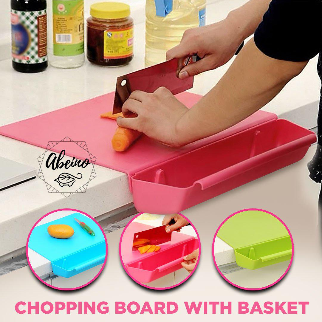 Cutting Board with Basket