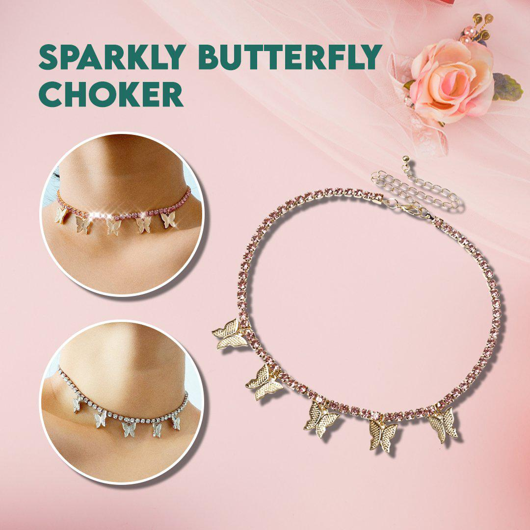 Sparkly Butterfly Choker