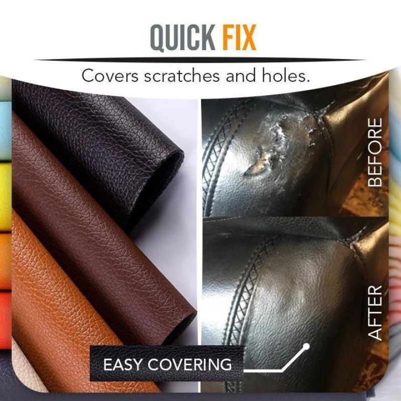 Self-Adhesive Leather Repair Patch x2