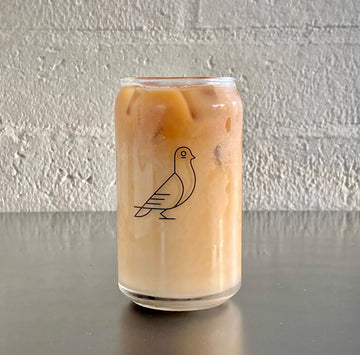 Low Pigeon coffee pint glass