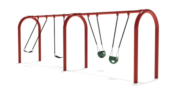 "Swing Set Swing Frame with 5"" Arch Posts"