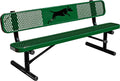 6' Dog Park Bench- Dog Park Series