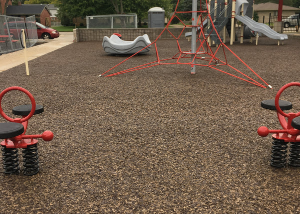 Bonded Rubber Playground Safety Surfacing