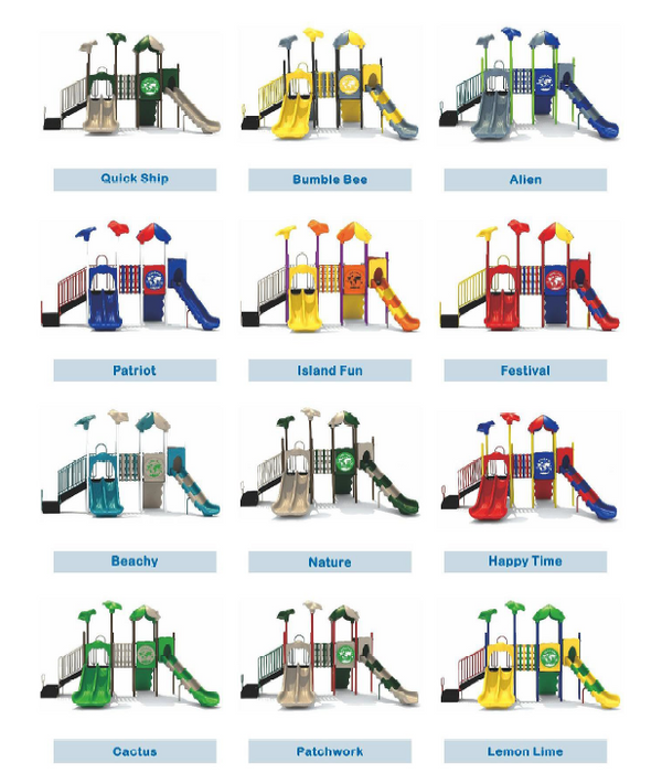 Nature Play Series with Natural Playground Equipment Theme