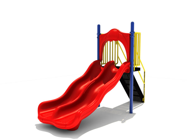 4' Free Standing Double Wave Slide