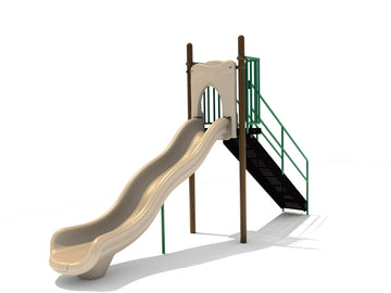 5' Free Standing Single Wave Slide