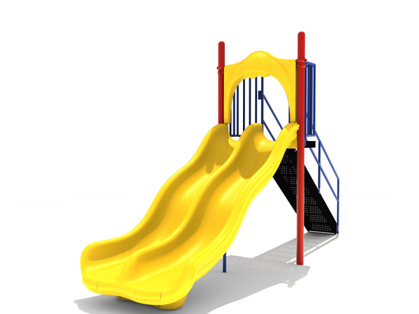5' Free Standing Double Wave Slide
