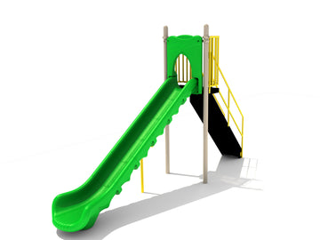 6' Free Standing Playground Single Sectional Slide