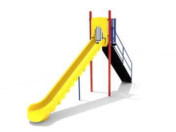 7' Free Standing Playground Single Sectional Slide