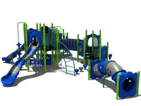 "Mega Play Series Playground Equipment with 5"" Post"