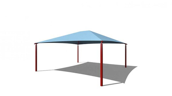 Square Hip Shade Structure - The Sun Shade Company