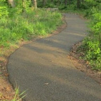 Resiliant walking pathway and trails for outdoor areas
