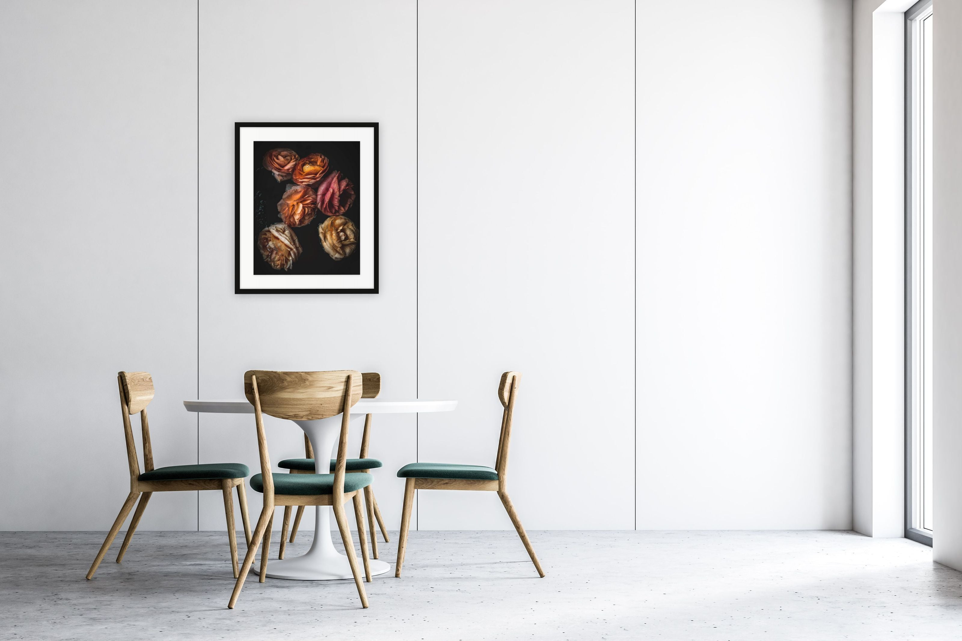 art prints that depict a more intimate view of the season's quintessential flower