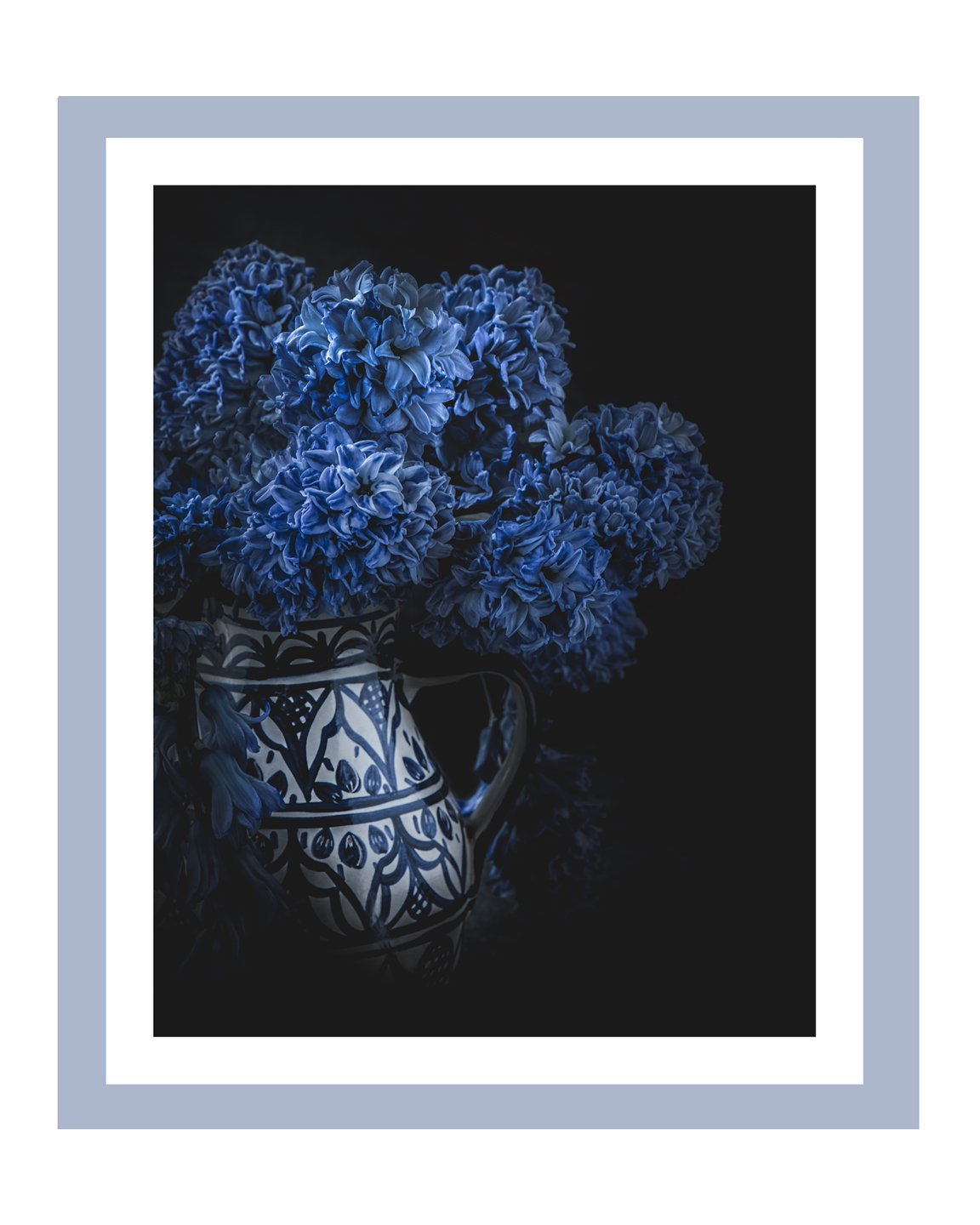 Born in Blue | Flower Art Prints | Elena Dragoi