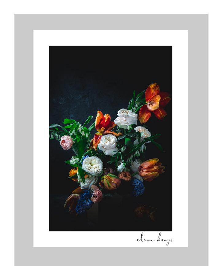 Dutch Masters | custom floral art cards | art postcards |  I ELENA DRAGOI