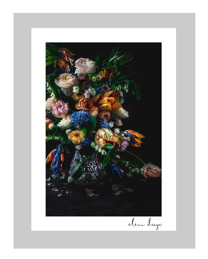 Dutch Masters II | custom floral art cards | art postcards | ELENA DRAGOI