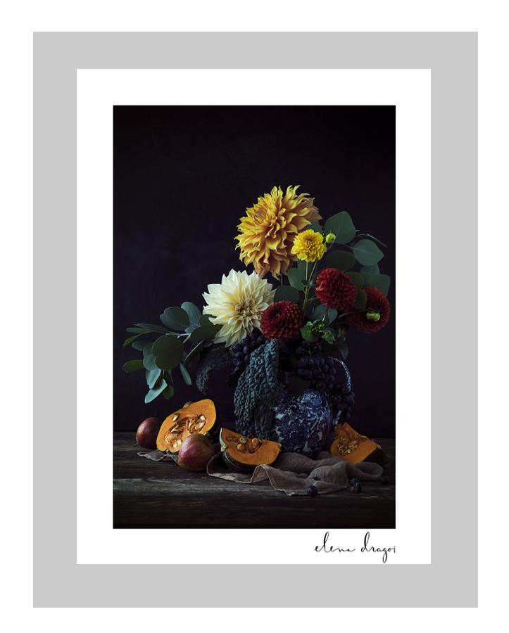 Harvest Time II custom floral art cards | art postcards | ELENA DRAGOI