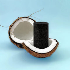 Coconut derived activated carbon water filter
