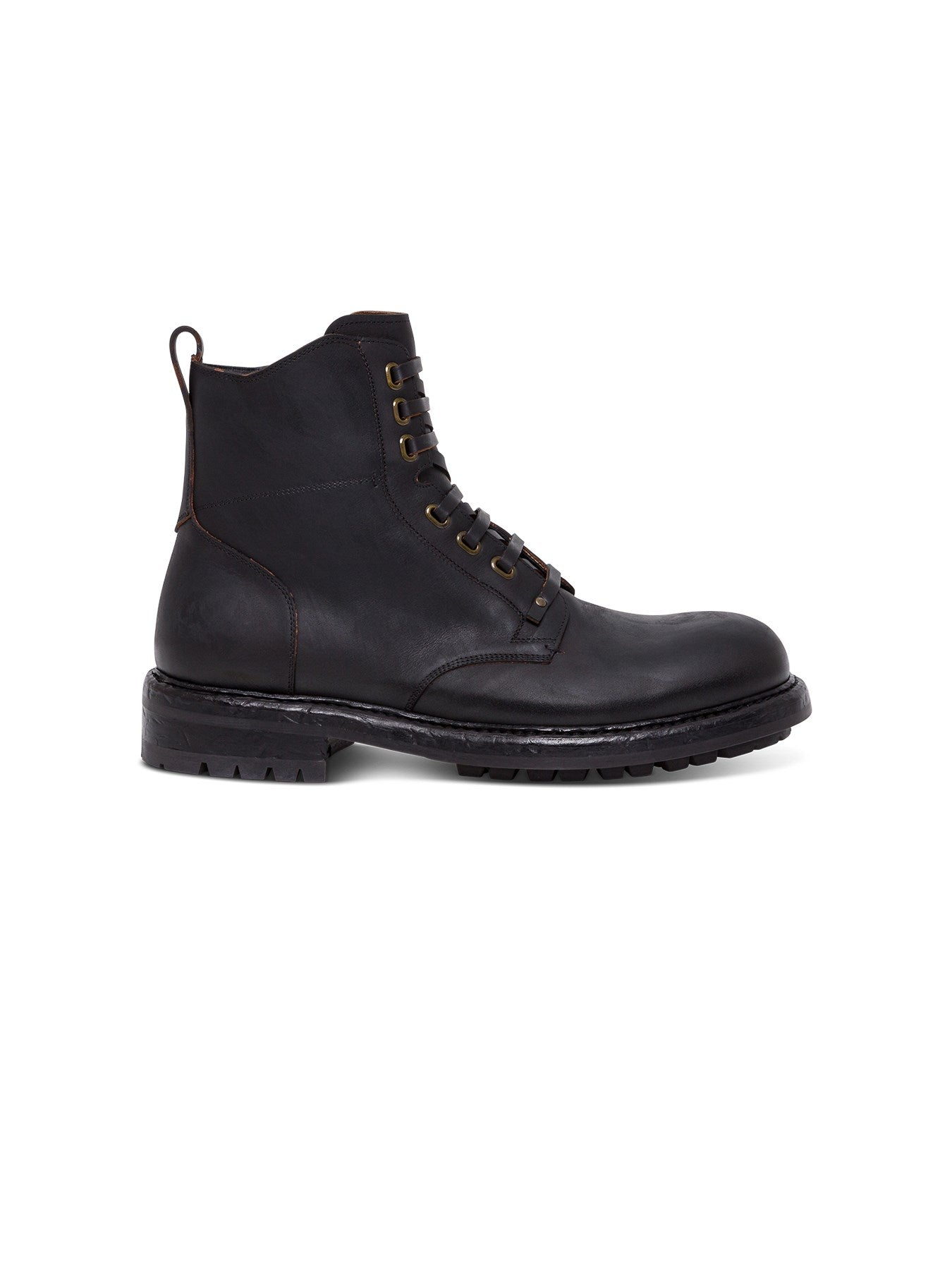 DOLCE & GABBANA LEATHER ANKLE BOOT