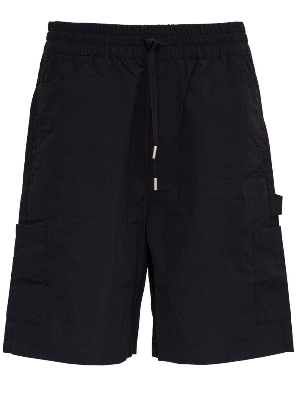 Heron Preston BLACK NYLON BERMUDA SHORTS