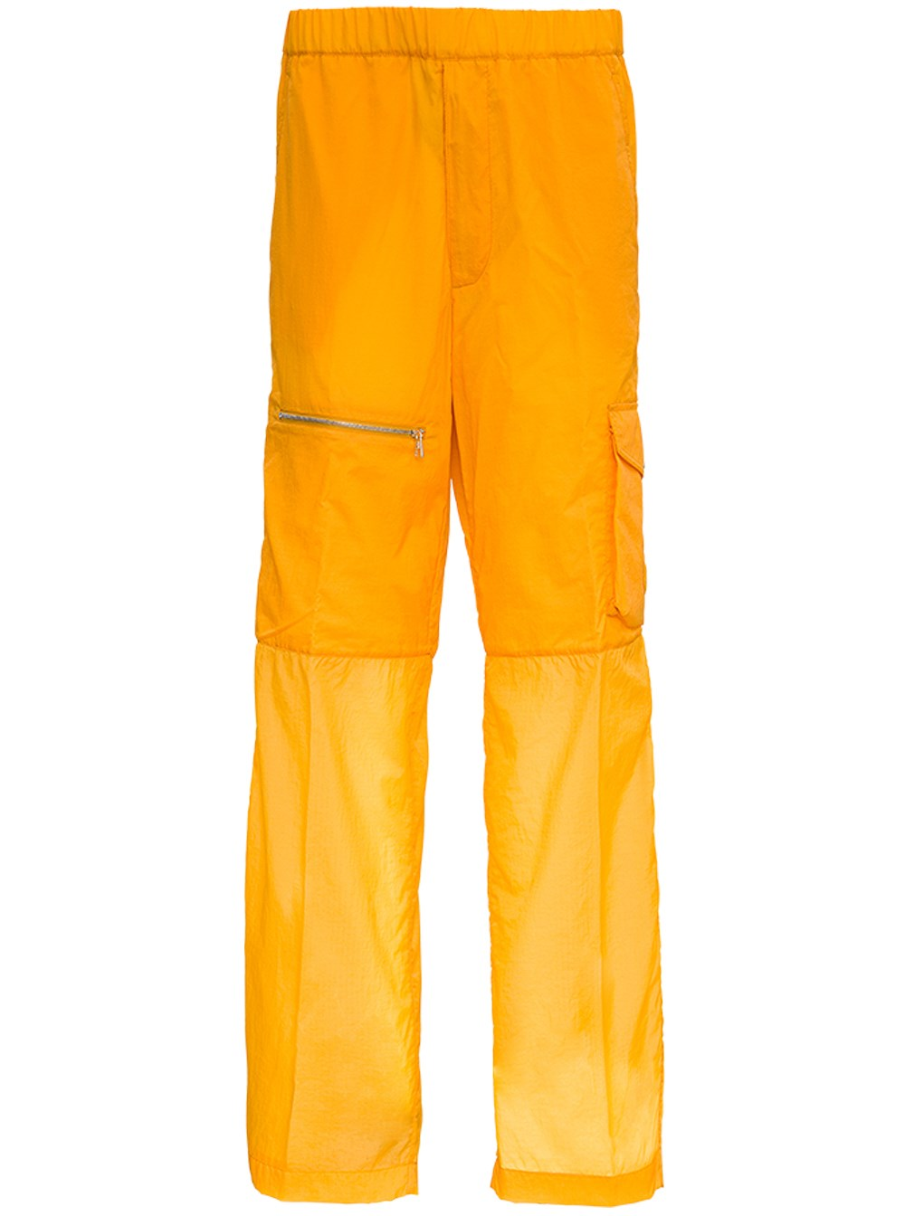 Moncler Cargo Trousers In Ripstop Nylon By 1952 In Yellow