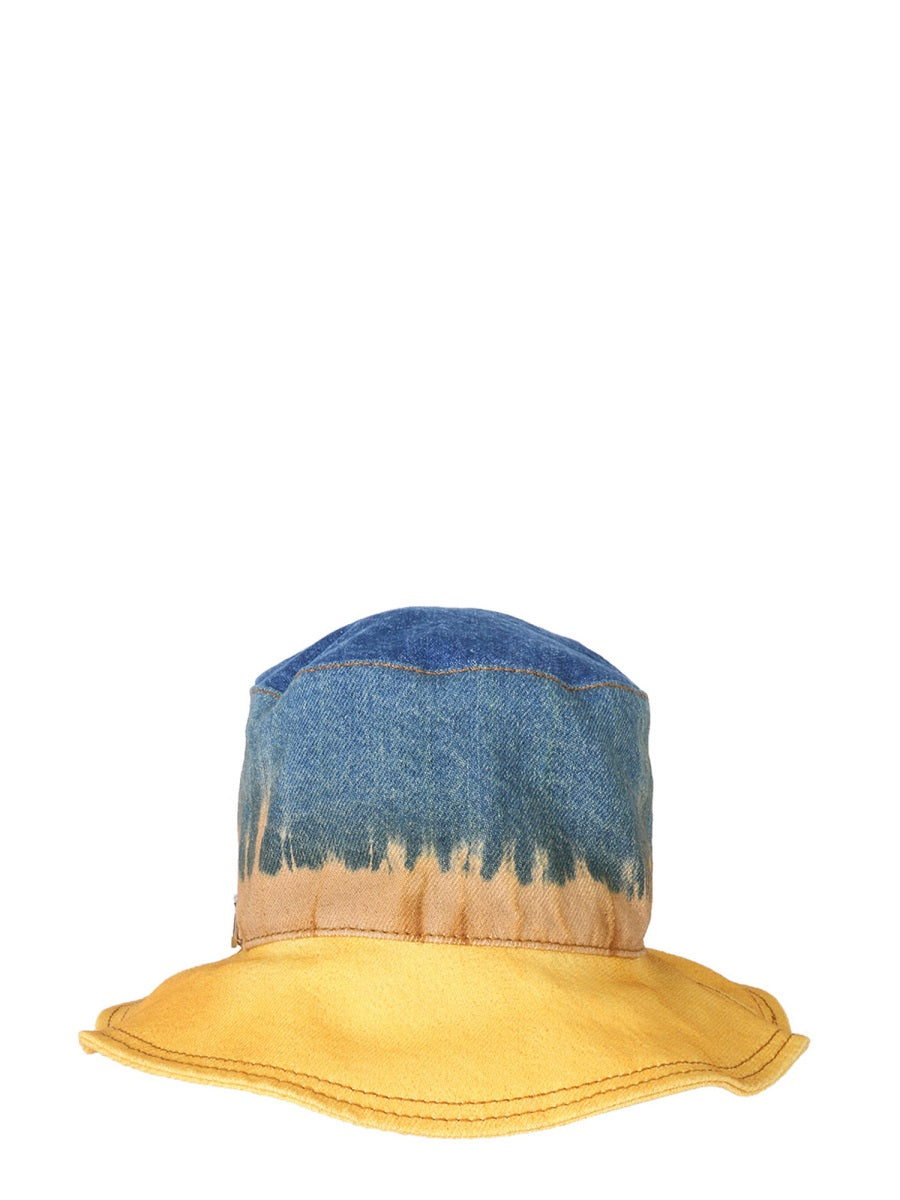 BUCKET HAT WITH TIE DYE PRINT