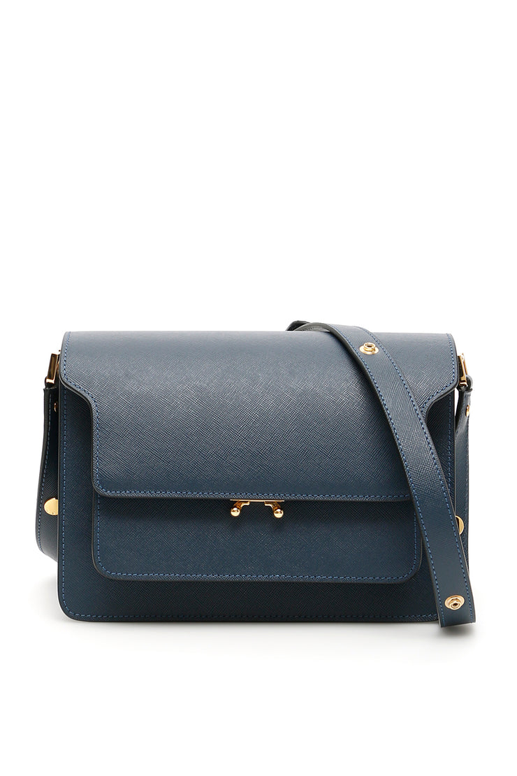 Marni Trunk Medium Bag In Orion Blue