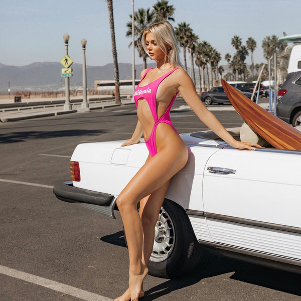 Surfs Up! One Piece in Hot Pink