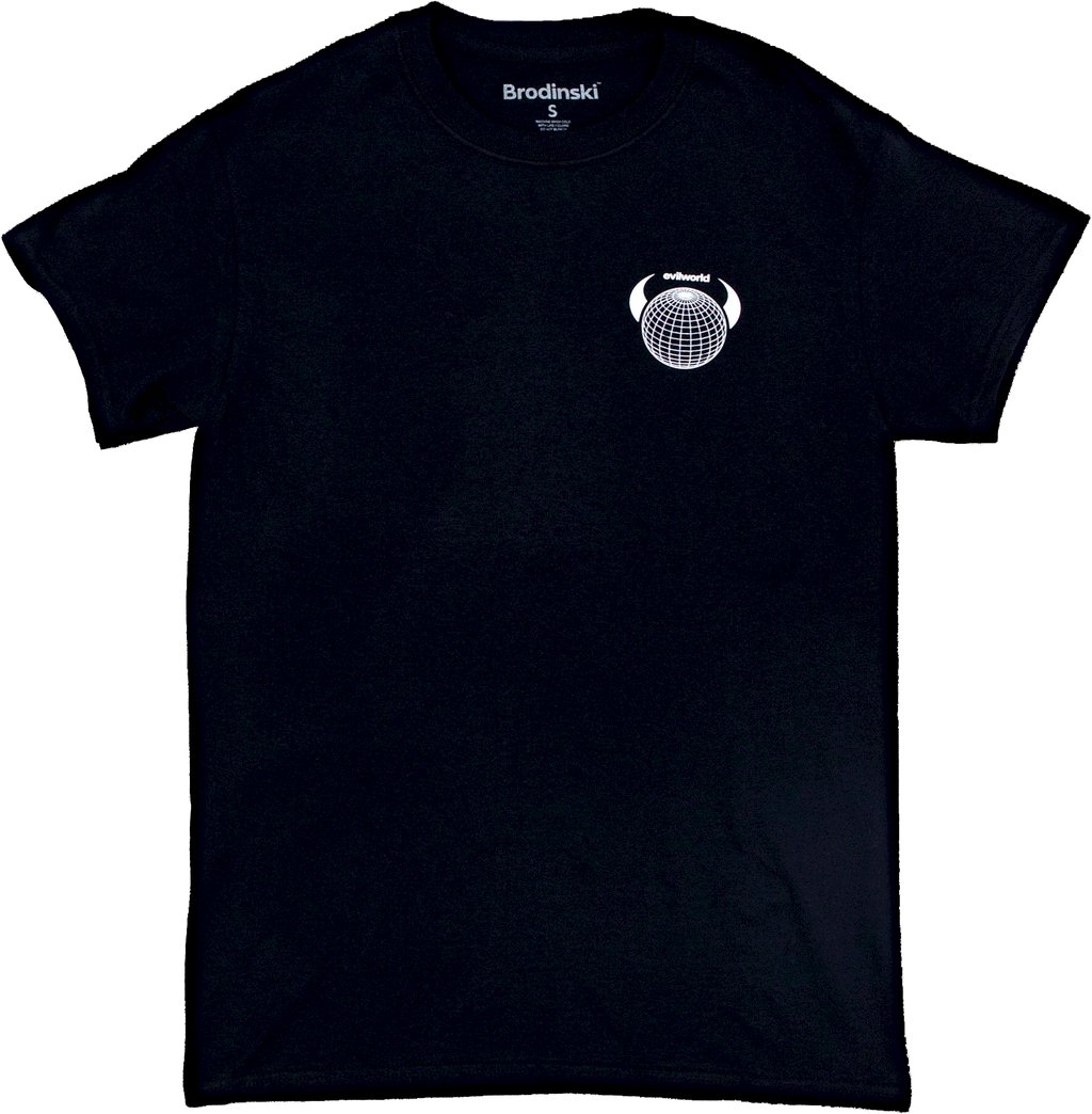Black Evil World Logo Tee