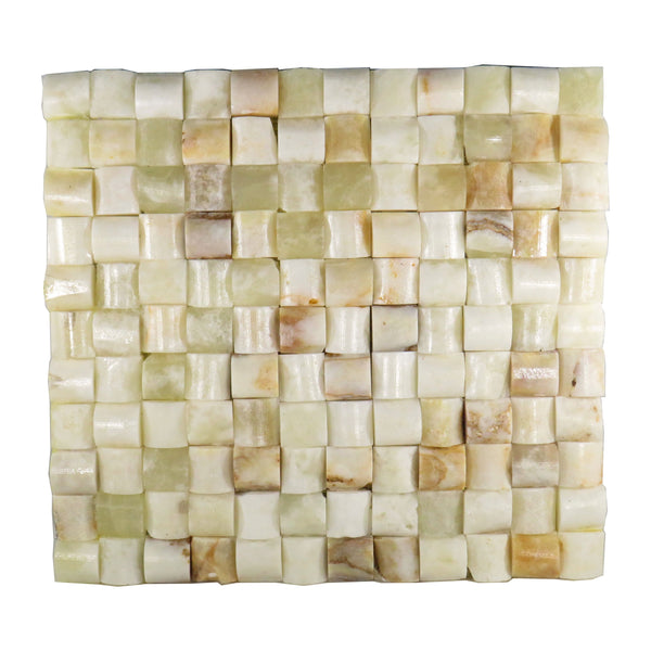 "Onyx Marble Salt & Pepper 12""x 12"" Natural Stone Mosaic Tile"