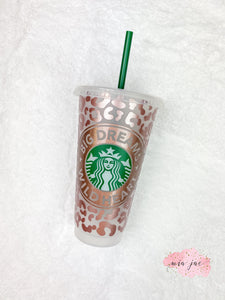 Wild Leopard Personalized Cold Cup