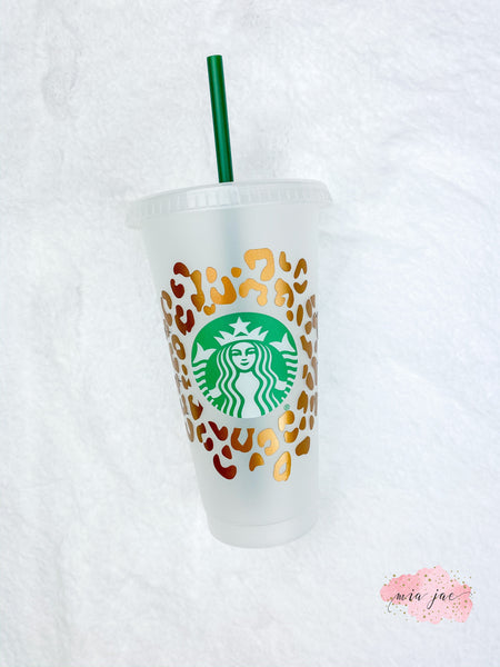 Leopard Pattern Cold Cup