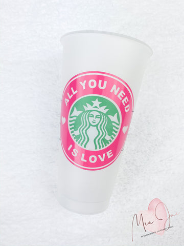 All You Need Is Love Cold Cup
