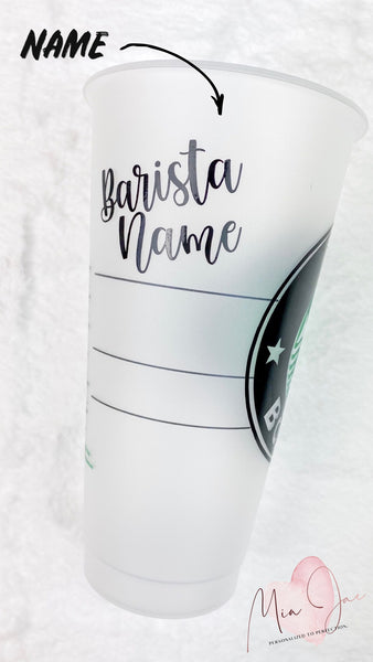 Custom Wording Personalized Cold Cup