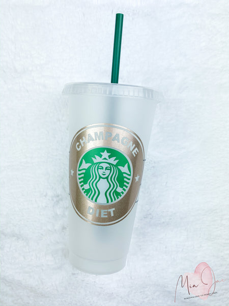 Champagne Diet Personalized Cold Cup