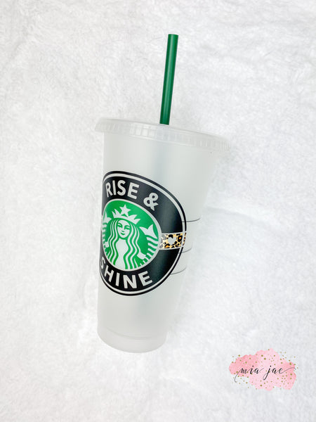 Leopard Stripe Personalized Cold Cup