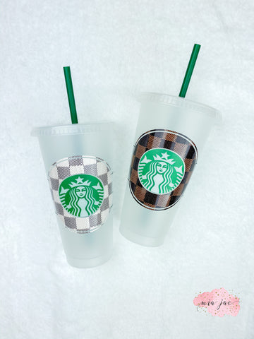 Checkered Cold Cup