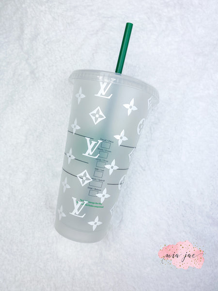 Monogram Personalized Cold Cup
