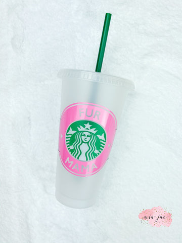 Fur Mama Personalized Cold Cup