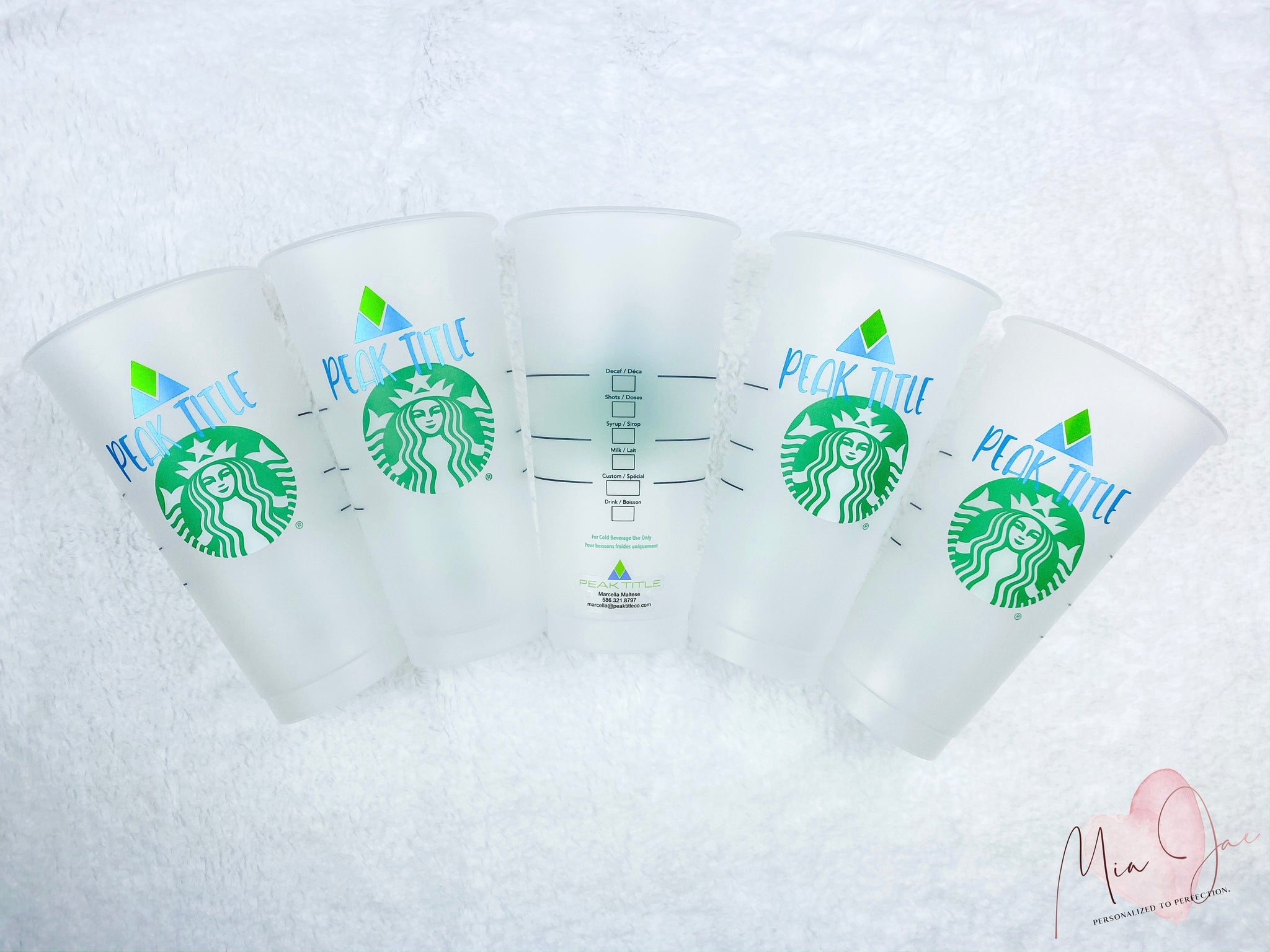 Custom Business Personalized Cold Cup