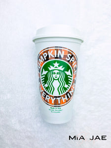 Pumpkin Spice Everything Personalized Hot Cup