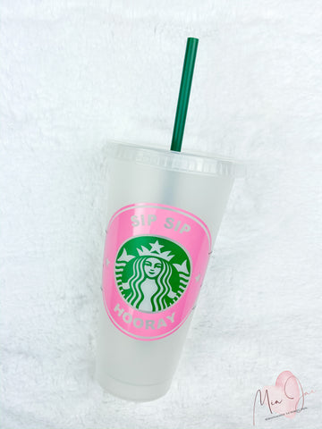 Sip Sip Hooray Personalized Cold Cup