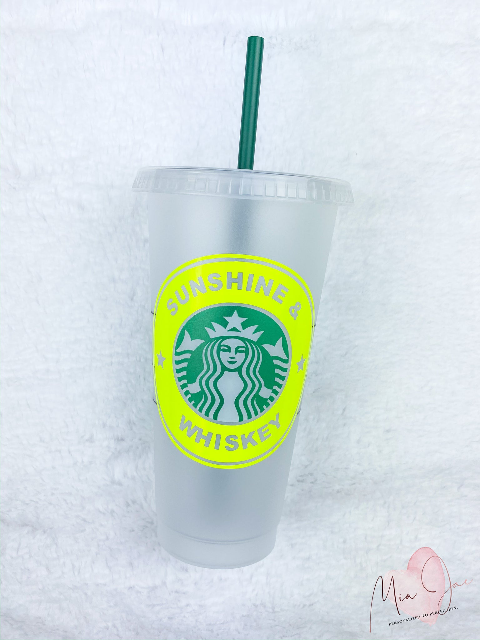 Sunshine and Whiskey Personalized Cold Cup