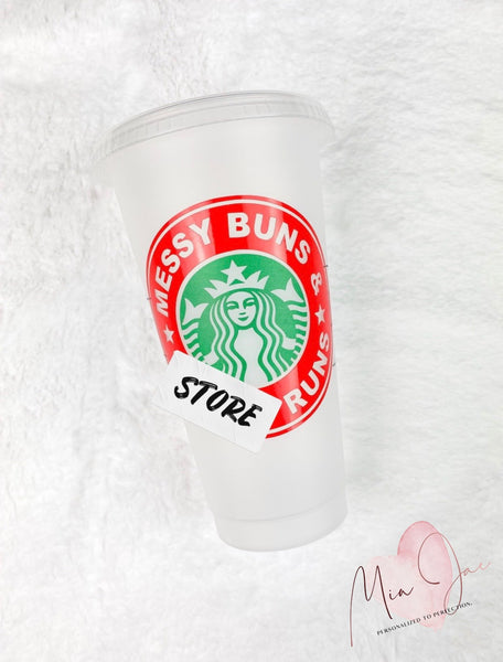 Messy Buns Personalized Cold Cup